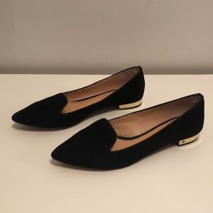 Tory Burch Connely Suede Pointy Flats Loafers 6.5